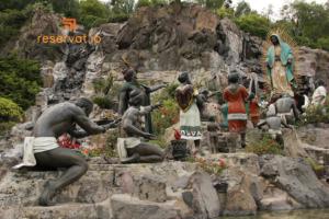 Al pie del Cerro del Tepeyac se apareció la Vírgen María al indígena Juan Diego.