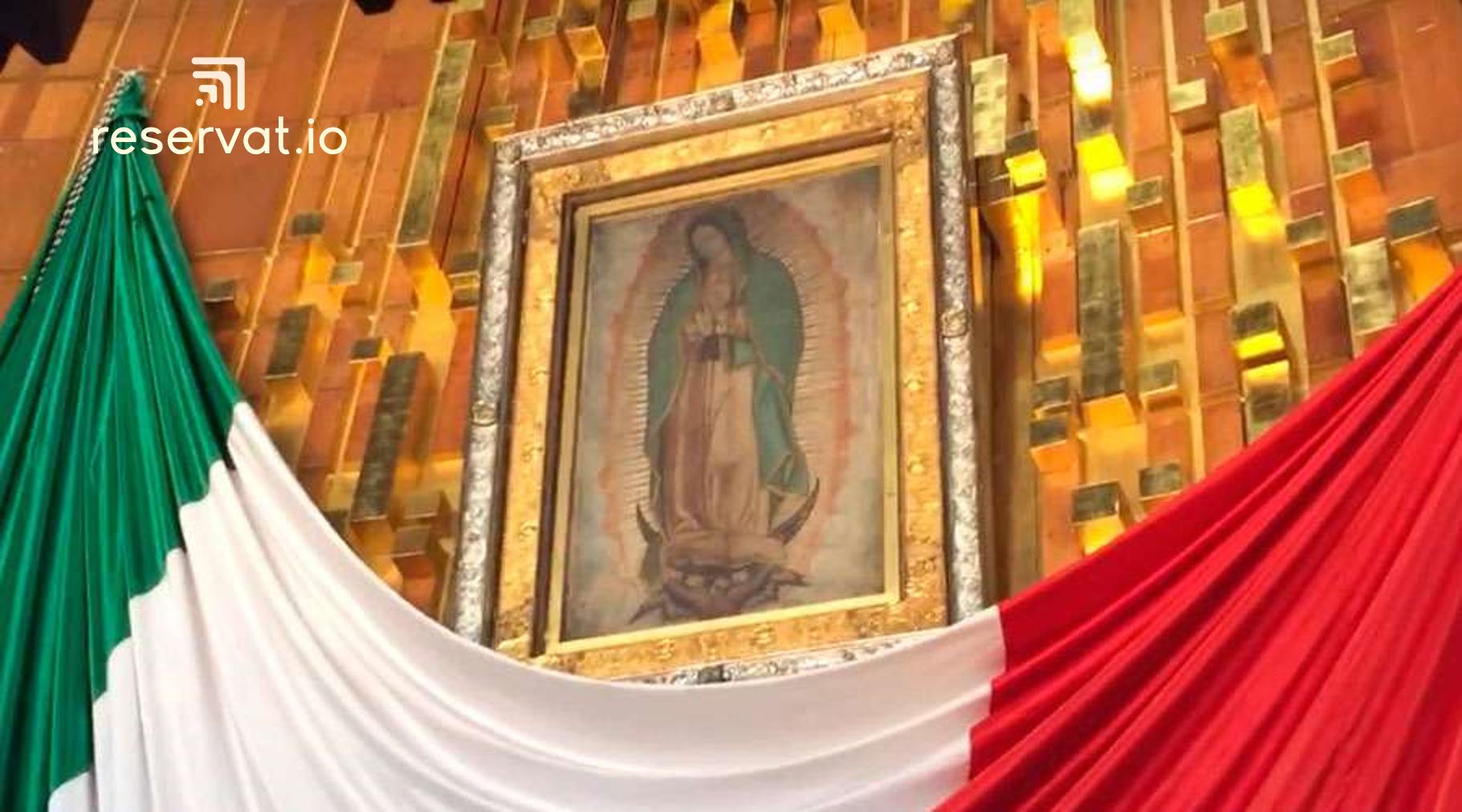 El altar mayor de la Basílica de Guadalupe.